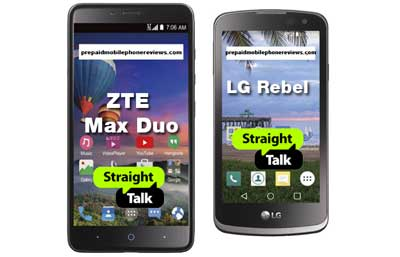 Straight Talk ZTE Max Duo 4G and LG Rebel Available Now