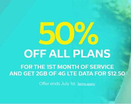 TPO Mobile Plans 50% Off First Month Until July 1