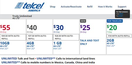 Telcel America Changes Plans, Adds New $25 Talk And Text Plan