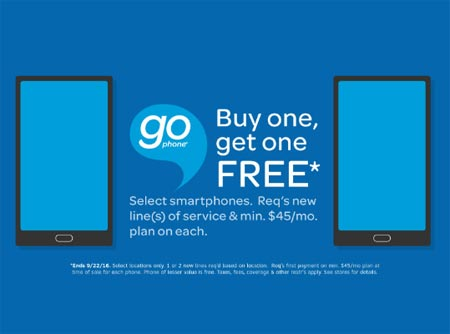 AT&T announces GoPhone BOGO Deal From July 22