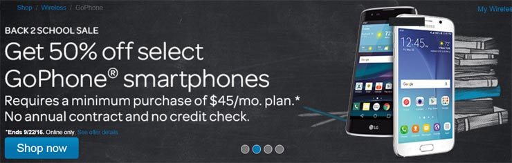 GoPhone Back to School Promotion Offers 50% Off Select Smartphones