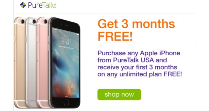 Pure TalkUSA Offers 3 Months Of Free Service With iPhone Purchase