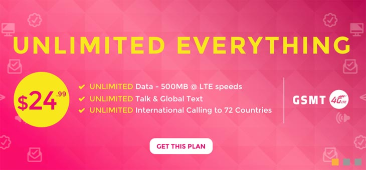 Red Pocket GSMT $24.99 Plan Now Includes Unlimited Data With 500MB At High Speed