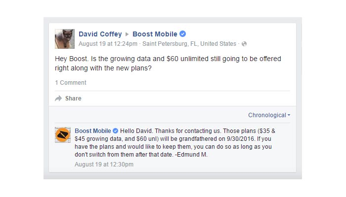 Boost to Discontinue Growing Data Plans and $60 Unlimited Plan on Sept. 30