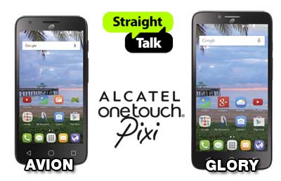 Straight Talk Alcatel OneTouch Pixi Avion and Pixi Glory Available Now