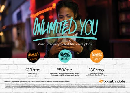 New Boost Mobile Unlimited Unhook'd Plan Launches for $50 on Aug. 19