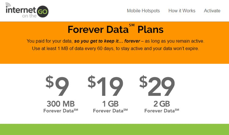 Internet On The Go Reduces The Cost Of $39/2 GB Forever ...