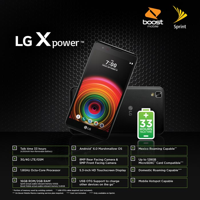 Boost Mobile LG X Power Available For $129.99