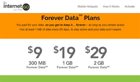 Internet On The Go Reduces The Cost Of $39/2 GB Forever Data Plan To $29