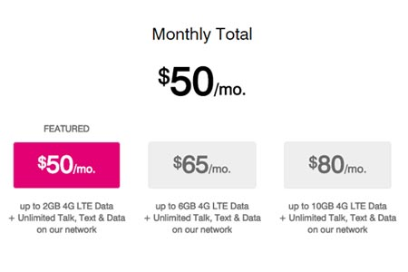 T-Mobile No Longer Offers $95 Simple Choice Prepaid Plan