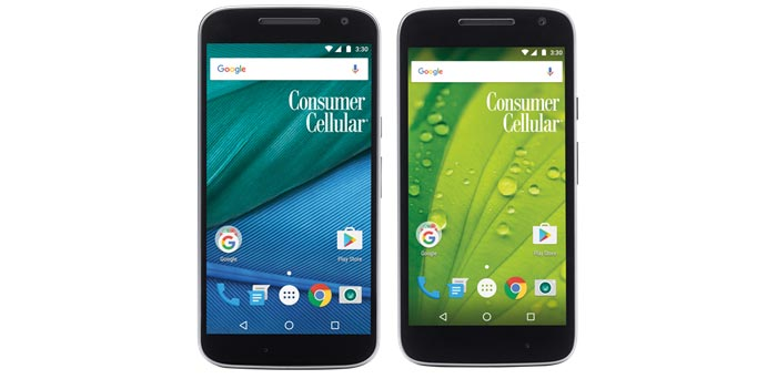 Consumer Cellular Moto G4 and Moto G4 Play Available Now
