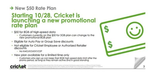 Cricket To Launch New $50 8 GB Plan On October 28