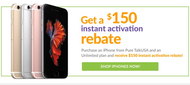 Pure TalkUSA Offers Instant $150 Activation Rebate With iPhone And Unlimited Plan Purchase
