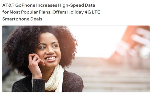 AT&T GoPhone Increases Data Allotments on the $45 and $60 Plans