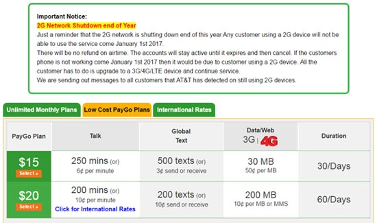 Jolt Mobile Changes Pay Go $20 Plan, Reminds Users Of 2G Network Shutdown