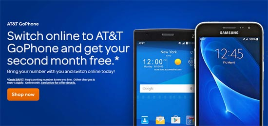 AT&T GoPhone Offers Free Second Month of Service to Customers Who Switch
