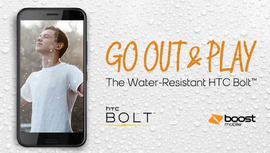 Boost Mobile HTC Bolt Water-Resistant Launches for 399.99