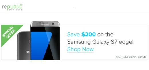 Republic Wireless Samsung Galaxy S7 Edge $200 Off Until Feb. 28 Plus Free 256GB Card until Feb. 14