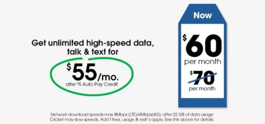 Cricket's Unlimited 4G LTE Plan Now Costs $60 Instead Of $70 Per Month