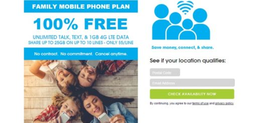 FreedomPop Launches Family Plan for $5 per Line Each Month