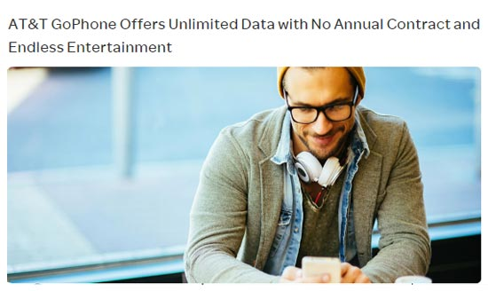 GoPhone Launches New Unlimited Data Plan, Adds More Data to $45 Plan