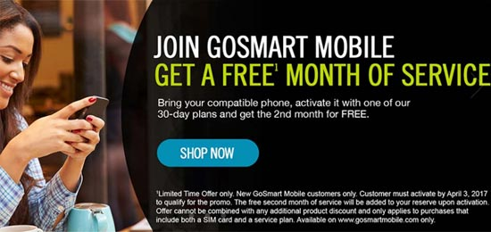 Gosmart Offers Free Month of Service for New Customers Who Bring Their Own Phone