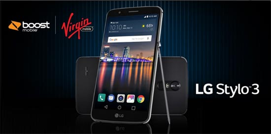 LG Stylo 3 on Boost and Virgin Mobile Launches for 179.99
