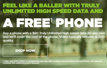 Free Phone With the Purchase of $60 Unlimited Plan