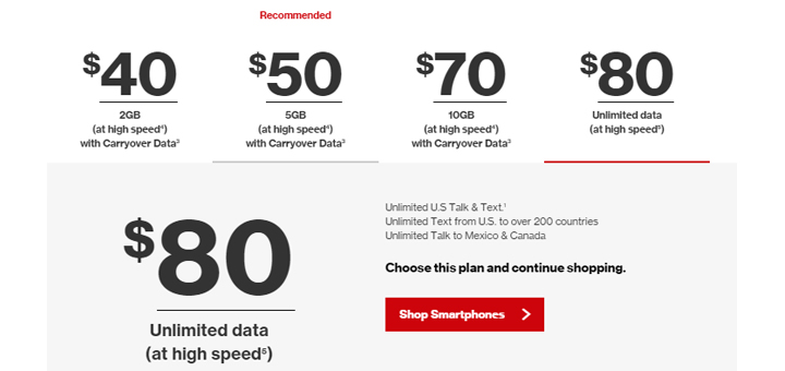 At T Wireless Data Plans >> Verizon Prepaid Launches $80 Unlimited Plan - Prepaid Mobile Phone Reviews