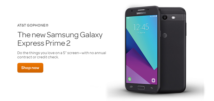 Gophone Samsung Galaxy Express Prime 2 Launches For 129