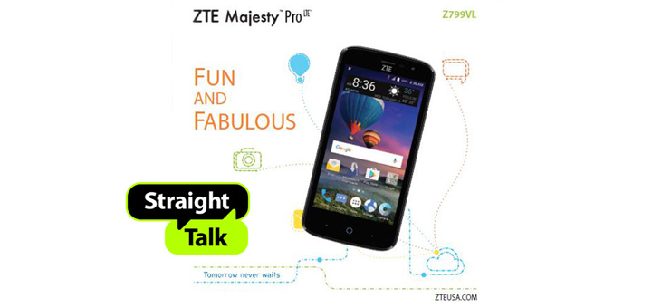 Straight Talk Zte Majesty Pro Lte Available At Walmart For