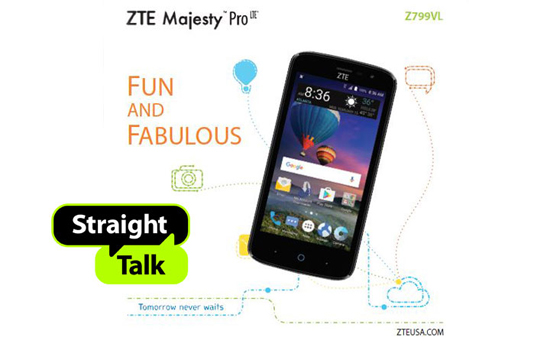 Straight Talk ZTE Majesty Pro LTE Available at Walmart for $30