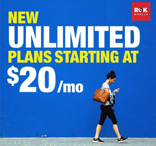 Verizon MVNO ROK Mobile Adds Sprint BYOD Unlimited Plans
