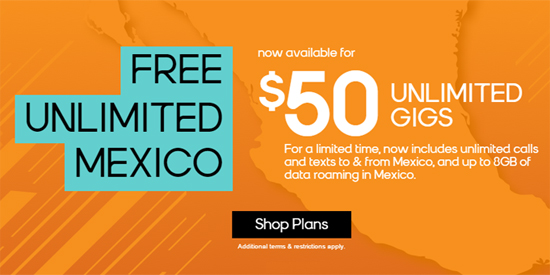 Boost Mobile Includes Roaming To Mexico with $50 Unlimited Gigs Plan for a Limited Time