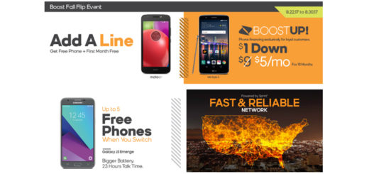 Boost Mobile Offers Free Moto E4 and First Month of Service Free When You Add a Line