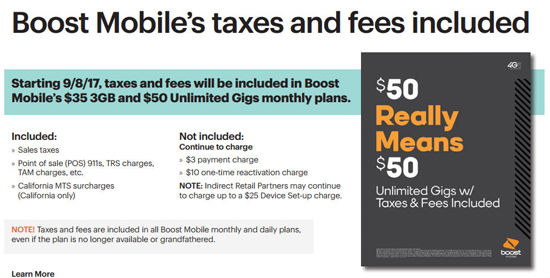 Rok Mobile GSM Service Plans Now Available, Boost Mobile's Taxes and Fees Now Included in Plans