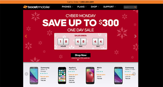 Boost Mobile Cyber Monday 2017 deals