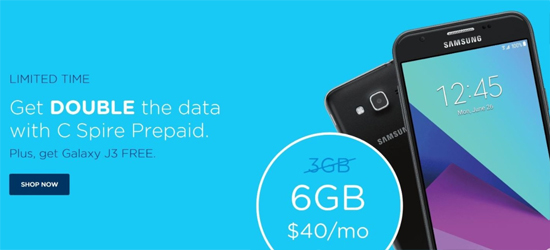 C Spire Prepaid Increases Data on $40 and $55 Plans, Offers Free Phones for New Customers