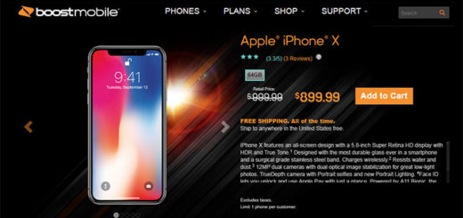 Boost Mobile Apple iPhone X 64GB $899.99, $100 Off