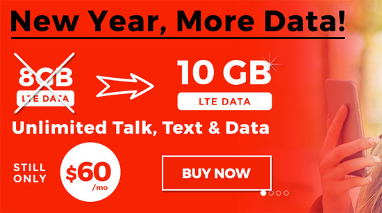 Red Pocket Offers More Data on $60 Plan For a Limited Time, Discontinues $45/ 5GB Plan