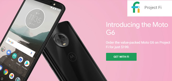google project fi moto g6 available for 199 lg g7 and v35 coming soon prepaid mobile phone. Black Bedroom Furniture Sets. Home Design Ideas