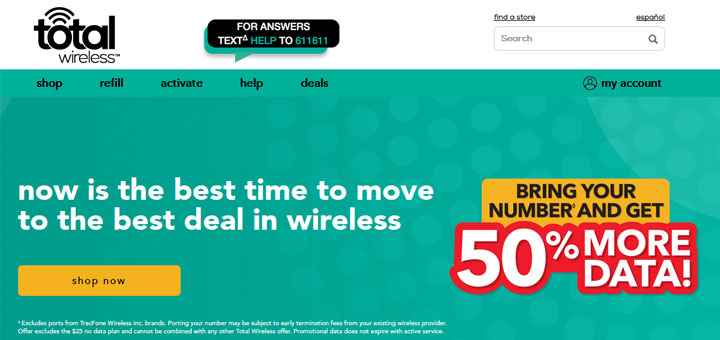 Total Wireless Promotion Provides 50% more LTE Data for New
