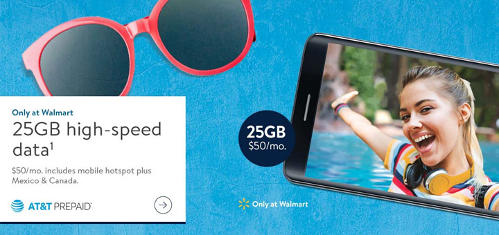 AT&T Prepaid Promotion 25GB High Speed Data on $40 Plan at